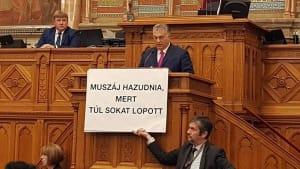 Zwischenfall im ungarischen Parlament