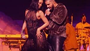 Drake wird dank Rihanna zur Grinsebacke!