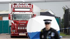 """""""Unvorstellbare Tragödie"""": 39 Leichen in LKW bei London entdeckt"""