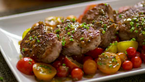 Pork Tenderloin with Cider Gravy