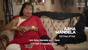 Asha has been growing her hair for years, with her longest dread measuring 110 feet