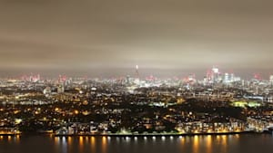 Timelapse of London's skyline on Bonfire Night