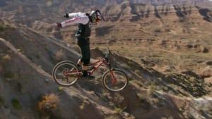Bikers showcase crazy stunts on terrifying course