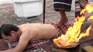 Ancient practice uses fire to massage your back