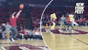 Student nails half-court shot for free tuition