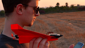 This is a remote control paper airplane