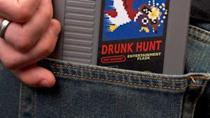 This retro cartridge is a secret flask