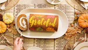 We are grateful for this pumpkin roll recipe