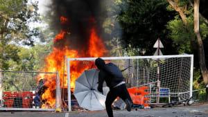 Wieder Straßenschlachten in Hongkong