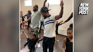 Father-daughter ballet class teaches dads to dance