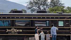 You can ride this Jose Cuervo tequila train