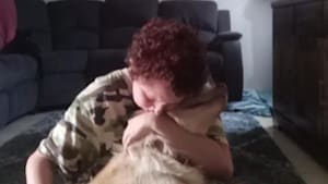 Service dog helps owner get through episode
