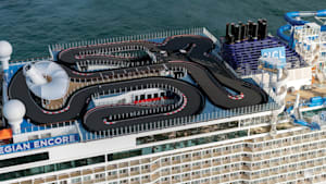 This is the biggest race track at sea