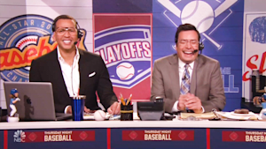 Alex Rodriguez's hilarious turn as a sportscaster