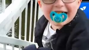 Adorable autistic boy can't stop laughing