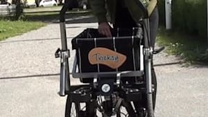 This innovative tricycle converts to a cart