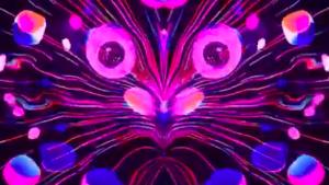 Motion graphics designer creates trippy animations