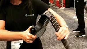 Foldable full-sized guitar can fit into a backpack