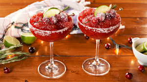 This frozen cranberry marg is a perfect fall treat