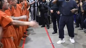 Kanye West gives performance at Texas jail