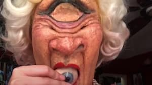 Woman becomes cyclops in special effects makeup