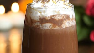Relax by the fire with a red wine hot chocolate