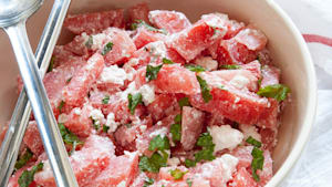 Schnelle Mittags-Rezepte: Wassermelone-Feta-Salat