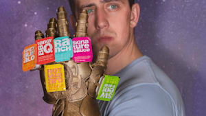 Avengers Thanos glove holds your favorite sauces