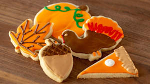 How to make cute fall cut-out cookies