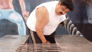 Strongest man in India breaks 17 rods in seconds