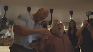 'The Rock' and Danny DeVito crashed a wedding