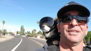 A real 'ruff' rider