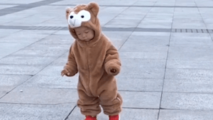 Toddler is terrified of walking across drain