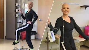 Woman loves to dance during chemotherapy