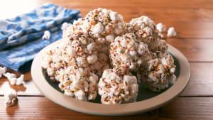 Popcorn balls get a festive makeover