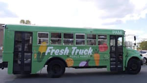 Converted bus brings veggies to Boston communities