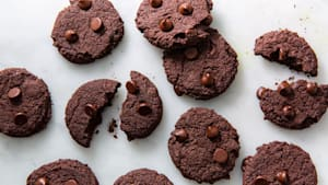 Chocolate Keto cookies are soft and fudgy!