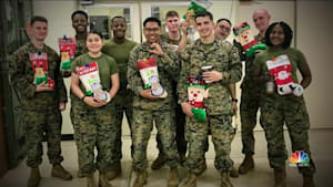 Young girl sends Christmas cheer to troops