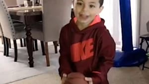 4-year-old is a basketball trickshot superstar