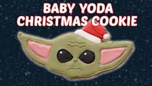 How to Make Baby Yoda Christmas Cookie