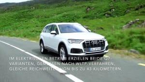 Der Audi Q7 - Zwei Leistungsstufen - der Q7 60 TFSI e mit 335 kW und der Q7 55 TFSI e mit 280 kW