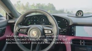 Der neue Porsche Taycan 4S - Einzigartiges Interieur-Design mit breitem Bildschirm-Band