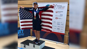 Woman receives lung transplant, wins gold medal