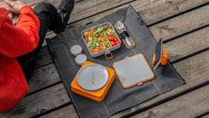 Innovative lunchbox unfolds into a picnic mat