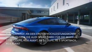 25 Jahre Audi RS - Exklusives Jubiläumspaket