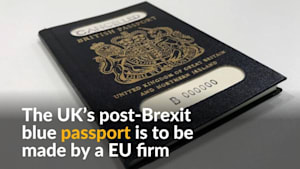 """Sacre bleu!"" New post-Brexit British passport to be made by Franco-Dutch firm"
