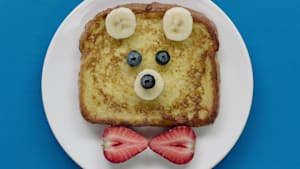 Get kids excited for school with this toast bear