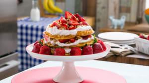 Berry Vanilla Belgian Waffle Cake