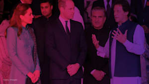 Prince William and Kate meet Pakistan's PM and friend of Diana
