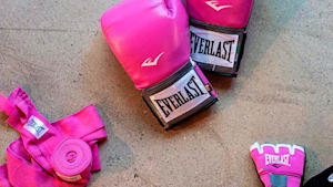 This boxing class is for breast cancer survivors only